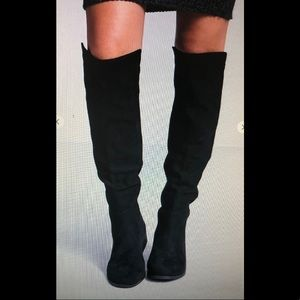 NEW Faux suede knee high boots